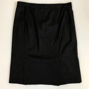 LN charcoal Theory pencil skirt double pleats 8